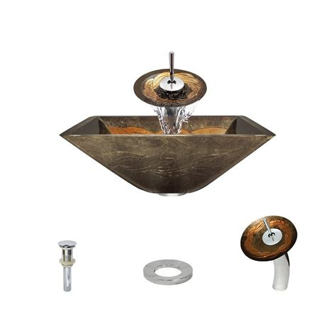 mr direct sinks and faucets mr direct glass vessel in gold and green