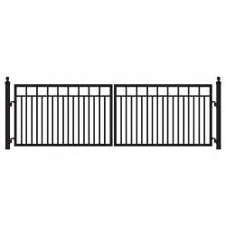 home depot gates mighty mule sanibel 16 ft w x 4 ft h 8 in powder coated
