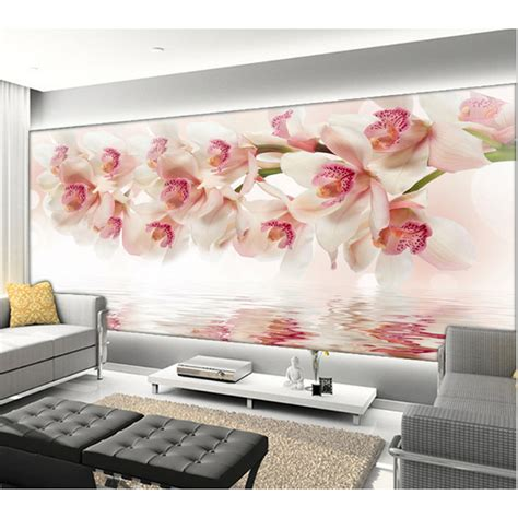 Pajangan Dinding Poster House 01 Pigura Home Decor aliexpress buy new 3d orchid flowers wall paper home decor living room