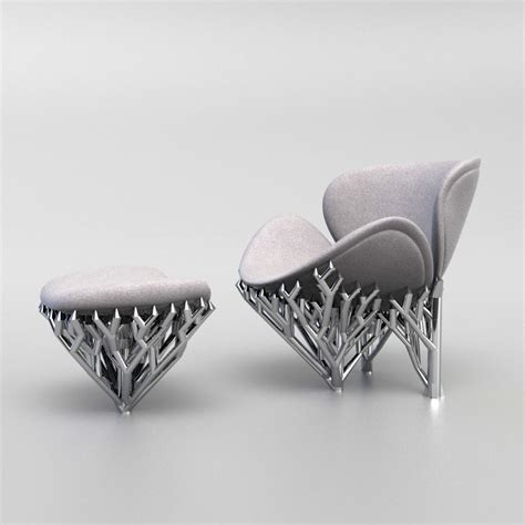 3d Printed Eames Lounge Chair Meshmixed Modern Emerging Objects