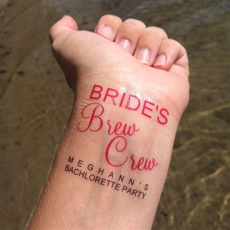 bachelorette temporary tattoos brew crew theme temporary