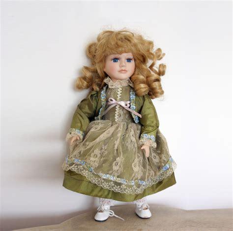 porcelain doll vintage vintage german doll 1970s porcelain doll collectible doll