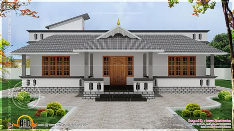 kerala home design single floor single home designs floor house elevation with stunning