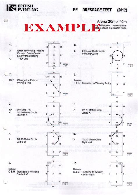 dressage test diagrams eventing be90 95 2012 dressage test with diagrams