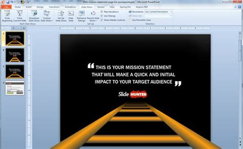 templates powerpoint original mission statement slide template for powerpoint