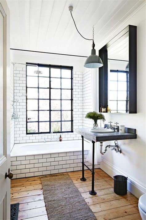 modern industrial bathroom 33 chic subway tiles ideas for bathrooms digsdigs