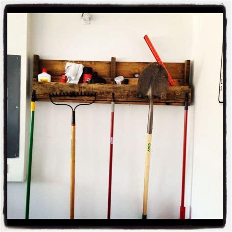 Garage Shelving From Pallets Pallet Garage Organizer Garage Garage