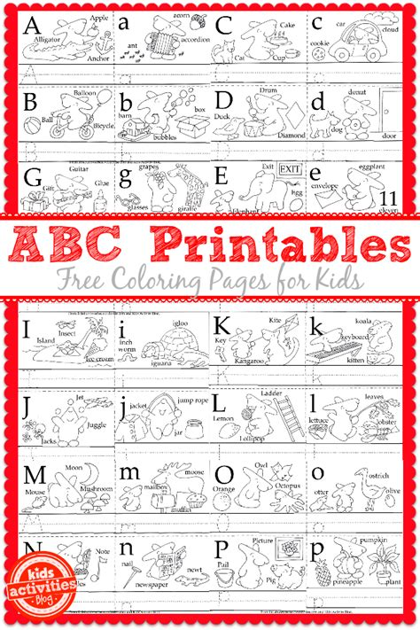 printable alphabet activities for toddlers learn to write the abc s with free kids printables kid