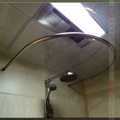 round shower curtain rod for corner shower thick 304 stainless steel u shaped round corner shower