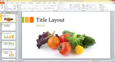 Free Fresh Food Template For Powerpoint 2013 Powerpoint Food Powerpoint Templates Free