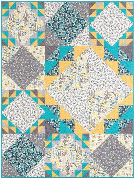 One Fabric Quilt Pattern by Robin One Quilt Kit New Forest Fabrics