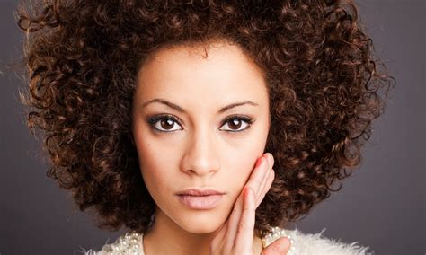 afro permed hairstyles afro curl twists or perm unique hair salon groupon