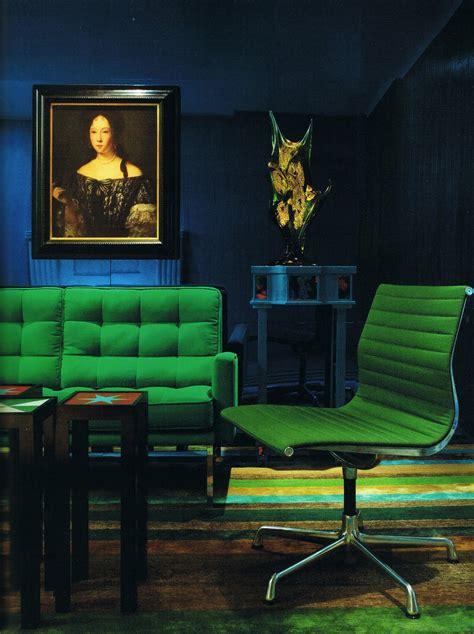 color scheme emerald green and sapphire blue eclectic