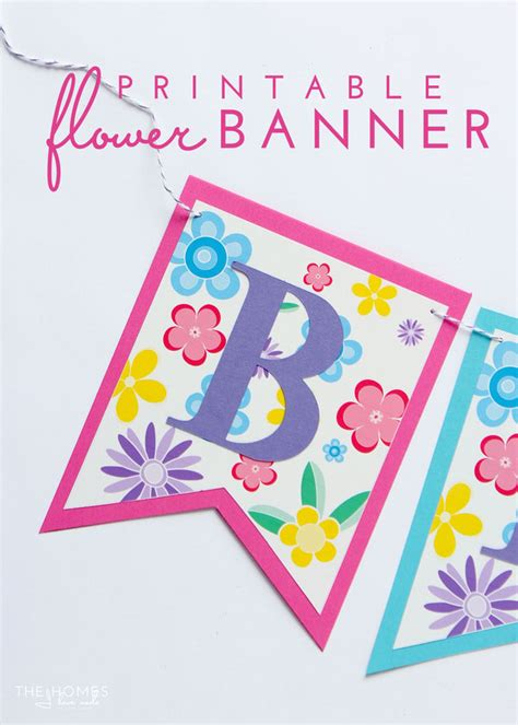 make a printable birthday banner super simple diy flower banner with free printable
