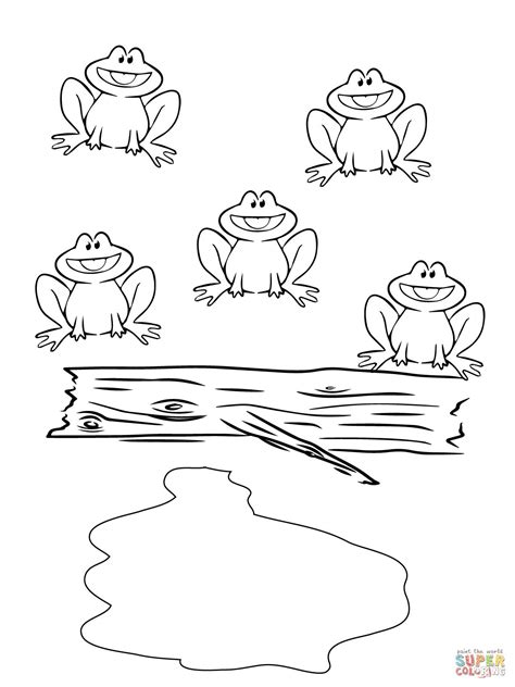 F Frog Coloring Page by Five Speckled Frogs Coloring Page Supercoloring