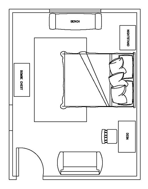bedroom floorplan kroll design quot blue quot digital design project