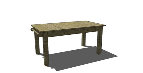 large square craft table free diy furniture plans to build a pb inspired