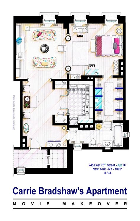 carrie bradshaw apartment floor plan carrie bradshaw apt sex and the city movies this is a