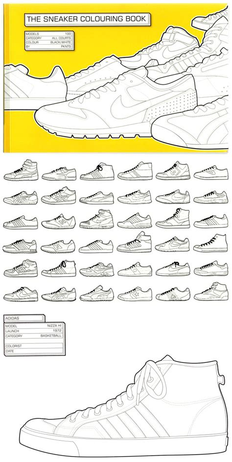 the sneaker coloring book the sneaker book coloring pages