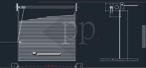 persiana dwg cad porta de enrolar cad porta seccional dwg desenho
