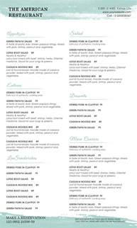 restaurant menu template for mac pages cover letter
