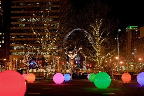 christmas lights st louis a citygarden christmas in st louis free background