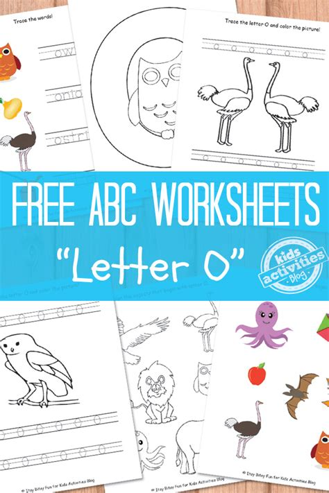 O Worksheets Free by Letter O Worksheets Free Printable