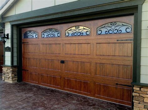 Wood Garage Doors Cost Decorating Faux Wood Garage Doors Garage Inspiration For You Abushbyart