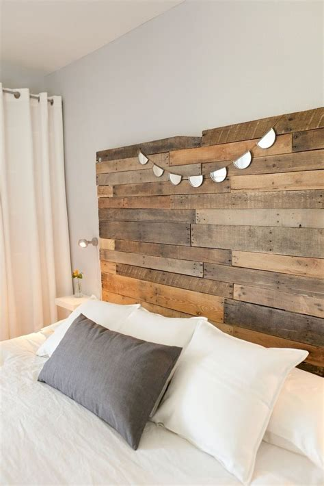 burlap headboard recycled timber bedhead rustic bed head pinterest