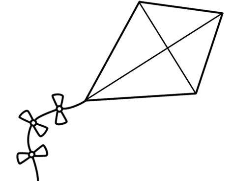 kite coloring page template kite pattern clipart best
