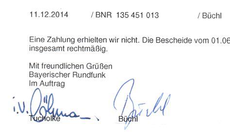 Mit Freundlichen Grüßen Unterschrift Ard Zdf Endlich Widerspruchsbescheid Ticket Zur Klage Show
