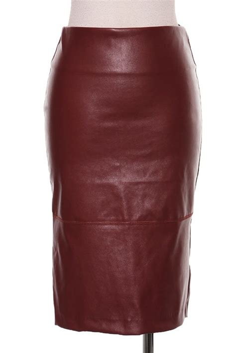 burgundy faux leather skirt j s closet