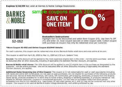 Barnes And Noble Gift Card Coupon - printable coupons 2018 barnes and noble coupons