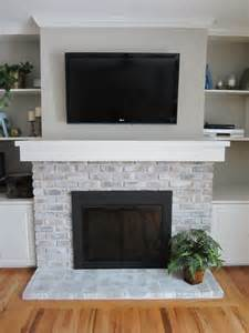 painting fireplace bricks the crux grey paint wash on a brick fireplace before