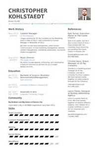 5 content manager cv example visualcv resume samples