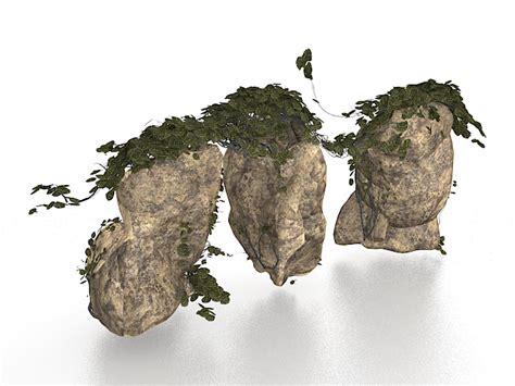 free garden rocks large rocks for garden landscaping 3d model 3ds max files