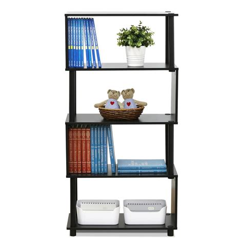 4 shelf open bookcase furinno flexi espresso modern design 4 shelf open bookcase