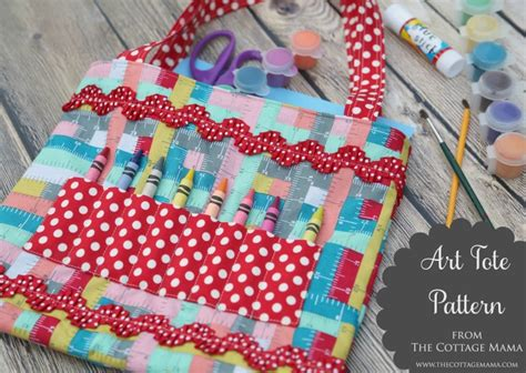 artist bag pattern crayon art tote pattern and tutorial the cottage mama