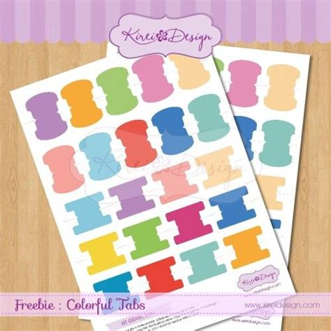 colorful tabs colorful tabs bykireidesign free printable