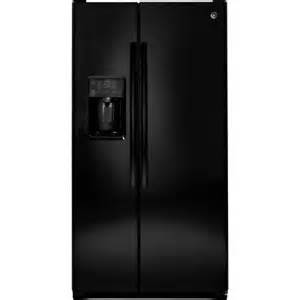 home depot side by side refrigerator ge 25 4 cu ft side by side refrigerator in black