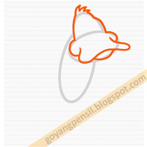Pensil Kayu Kartun cara menggambar kartun daffy duck goyang pensil