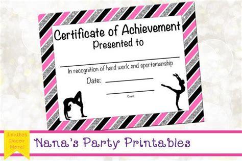 gymnastics certificate template gymnastics award gymnastics certificate by