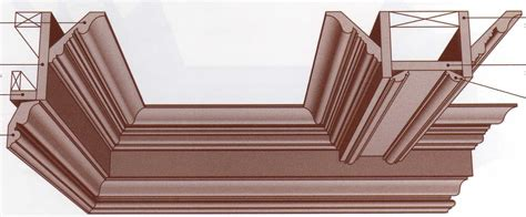 Coffered Ceiling Section Coffered Ceiling Cross Section Wainscoting Crown