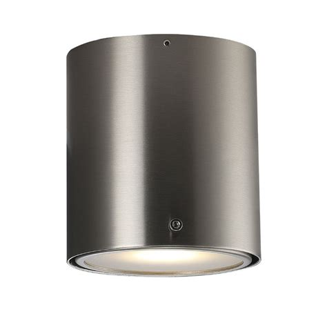 nordlux ip s4 wall ceiling light brushed steel