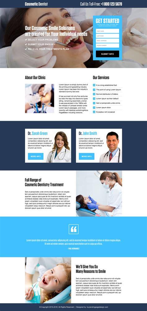 Dentist Lead Gen Landing Page Design 001 Dental Care Landing Page Design Preview Dental Landing Page Template