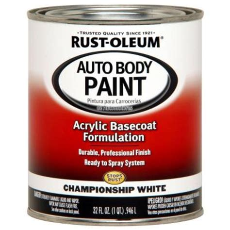 rust oleum automotive 1 qt auto chionship white paint