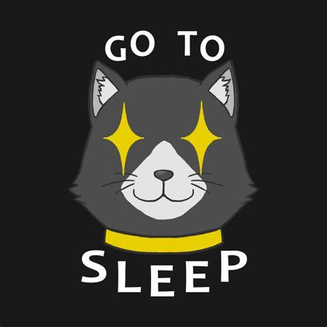 Topi Baseball Morgana Persona 5 go to sleep white persona 5 morgana t shirt teepublic