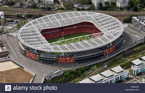 emirates stadium london aerial view of arsenal fc emirates stadium london n5
