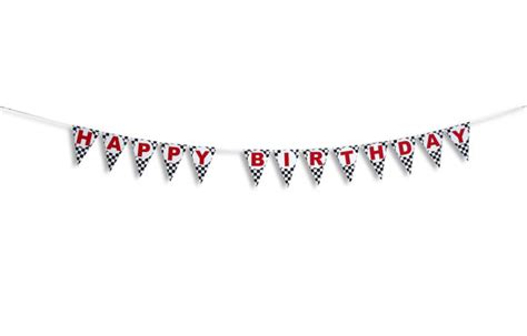 Balloonable Banner Flag Happy Anniversary happy birthday checkered flag banner race car birthday