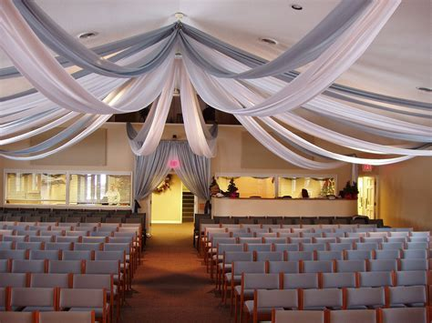 Ceiling Swags for Wedding Ceremony   Party Ideas